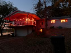 house on 9/29/12 decorated for Halloween
